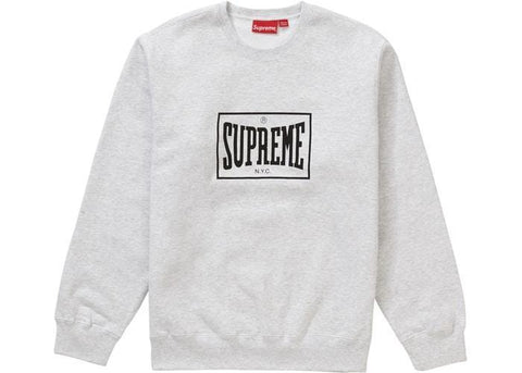 Supreme Warm Up Crewneck Ash Grey-Urban Necessities