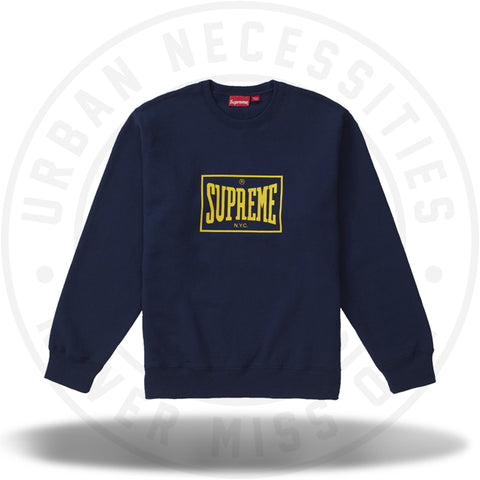 Supreme Warm Up Crewneck Navy-Urban Necessities