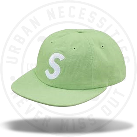 Supreme Washed Chambray S Logo 6-Panel Green-Urban Necessities