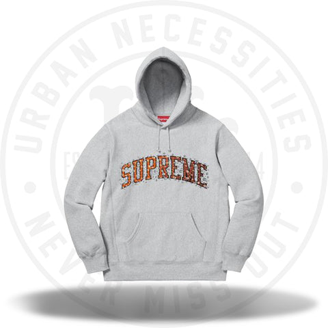 Supreme Water Arc Hooded Sweatshirt Heather Grey-Urban Necessities