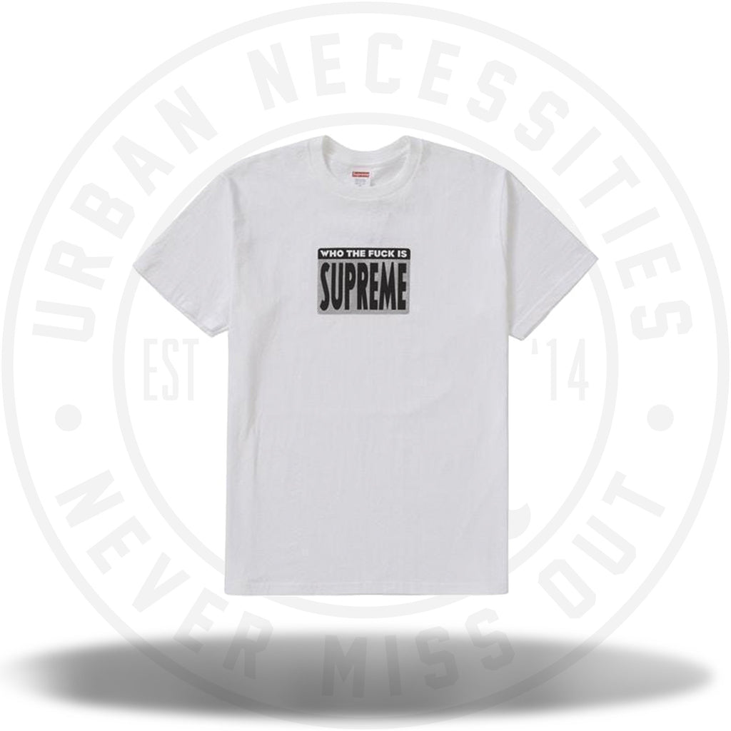 Supreme Who The Fuck Tee White-Urban Necessities