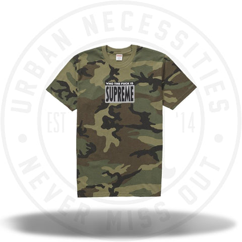 Supreme Who The Fuck Tee Woodland Camo-Urban Necessities