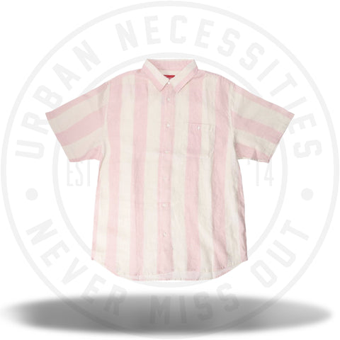 Supreme Wide Stripe Shirt Pink-Urban Necessities