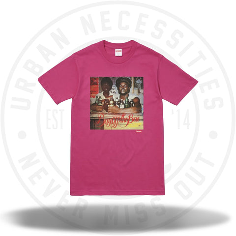 Supreme Wilfred Limonius Buy Off the Bar Tee Dark Pink-Urban Necessities
