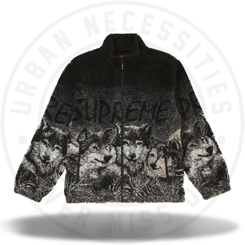 Supreme Wolf Fleece Jacket Black-Urban Necessities