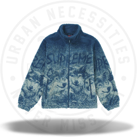 Supreme Wolf Fleece Jacket Dark Teal-Urban Necessities