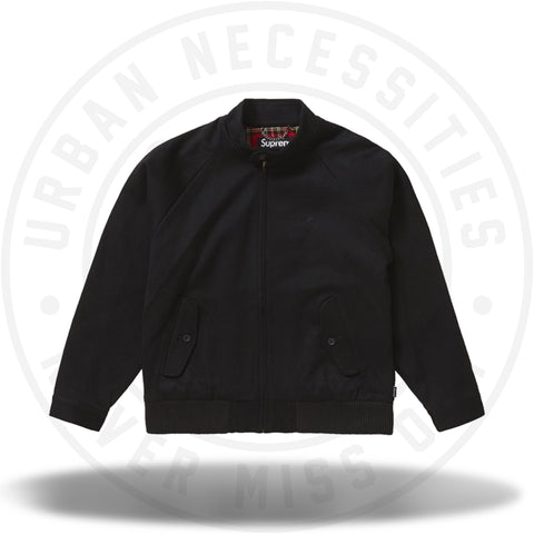 Supreme Wool Harrington Jacket Black-Urban Necessities