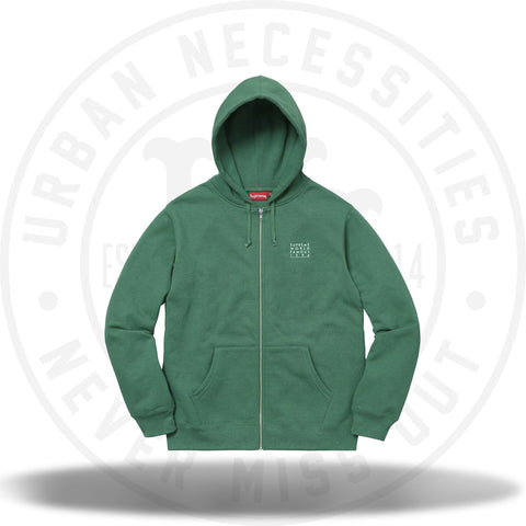 Supreme World Famous Zip Up Hooded Sweatshirt Light Pine-Urban Necessities