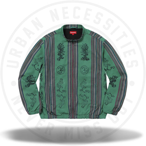 Supreme Woven Striped Batik Jacket Green-Urban Necessities