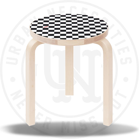 Supreme X Artek Aalto Stool 60 Checkerboard Checkered-Urban Necessities