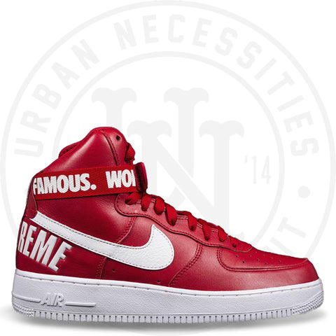 Supreme X Nike Air Force 1 High Red - 698696 610-Urban Necessities