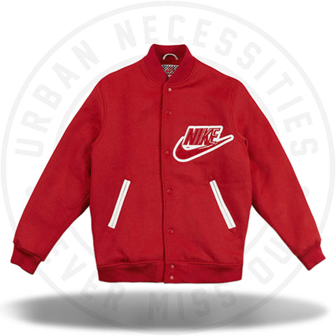 Supreme x Nike SB Varsity Jacket Red 2007-Urban Necessities
