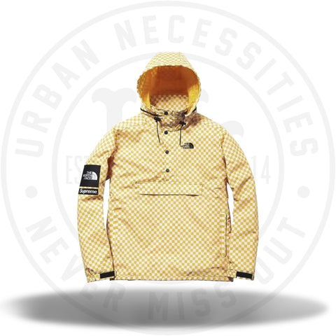 Supreme x TNF North Face Checkered Pullover Jacket Yellow SS11-Urban Necessities