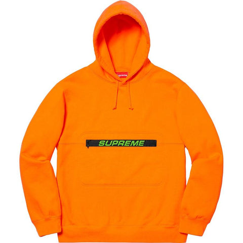 Supreme Zip Pouch Hooded Sweatshirt Orange-Urban Necessities
