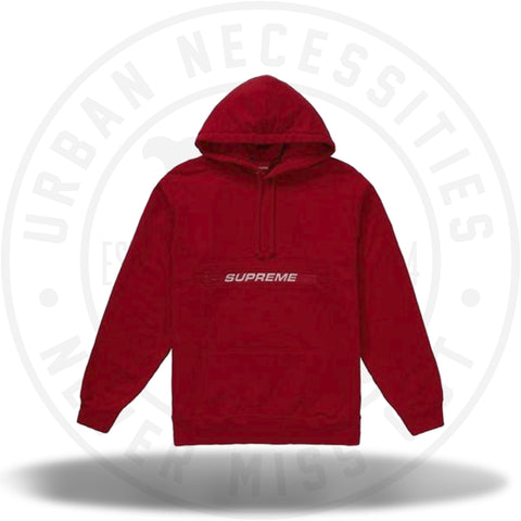 Supreme Zip Pouch Hooded Sweatshirt Red-Urban Necessities