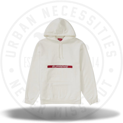 Supreme Zip Pouch Hooded Sweatshirt White-Urban Necessities