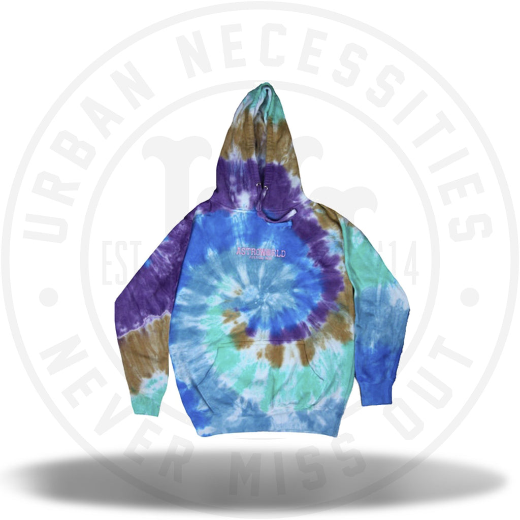 Travis Scott Astroworld Festival Run Hoodie Tie Dye-Urban Necessities
