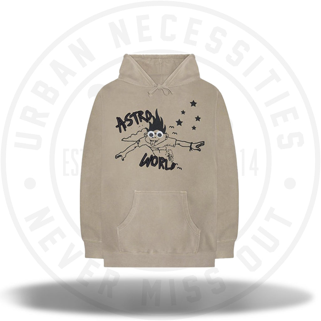 Travis Scott Astroworld I Can Fly Hoodie Tan-Urban Necessities