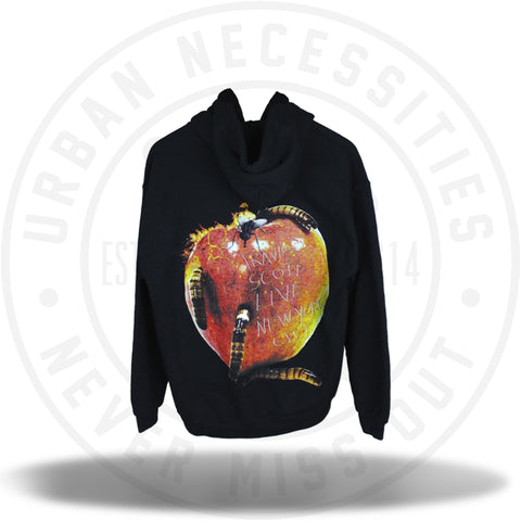 "Travis Scott ""Astroworld"" Madison Square Garden Apple Hoodie Black-Urban Necessities"