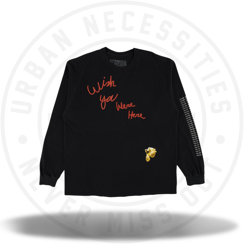 Travis Scott Astroworld Tour L/S Tee Black-Urban Necessities