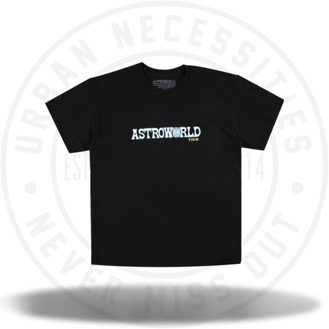Travis Scott Astroworld Tour Tee Black-Urban Necessities
