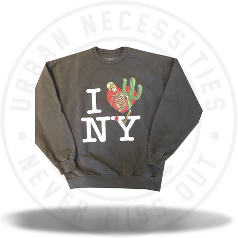 "Travis Scott Astroworld x NYC ""I Love NY"" Crewneck Olive-Urban Necessities"