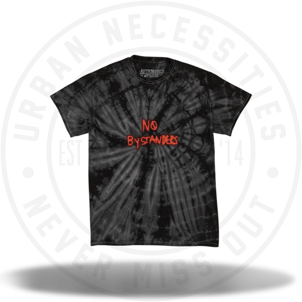 Travis Scott No Bystanders Tee Black Tie Dye-Urban Necessities