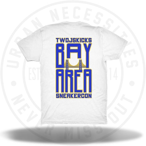 Two Js Kicks Bay Area Sneakercon Tee White-Urban Necessities