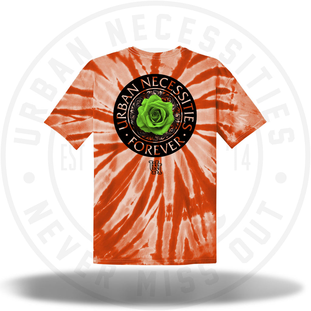 Two Js Kicks Tie Dye Shirt - Orange-Urban Necessities