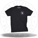 "UN 3D Stamp Tee ""Purple Tape"" Black/Lavender-Urban Necessities"