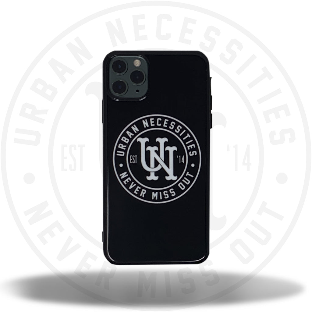 UN iPhone Case (7 - 11 Pro Max) Black/White-Urban Necessities