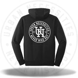 UN Stamp Puffer Print Hoodie Black/White-Urban Necessities