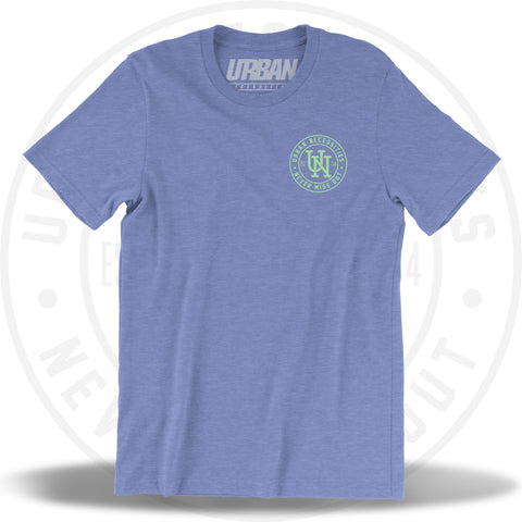 UN Stamp Tee Columbia Heather Blue/Mint-Urban Necessities