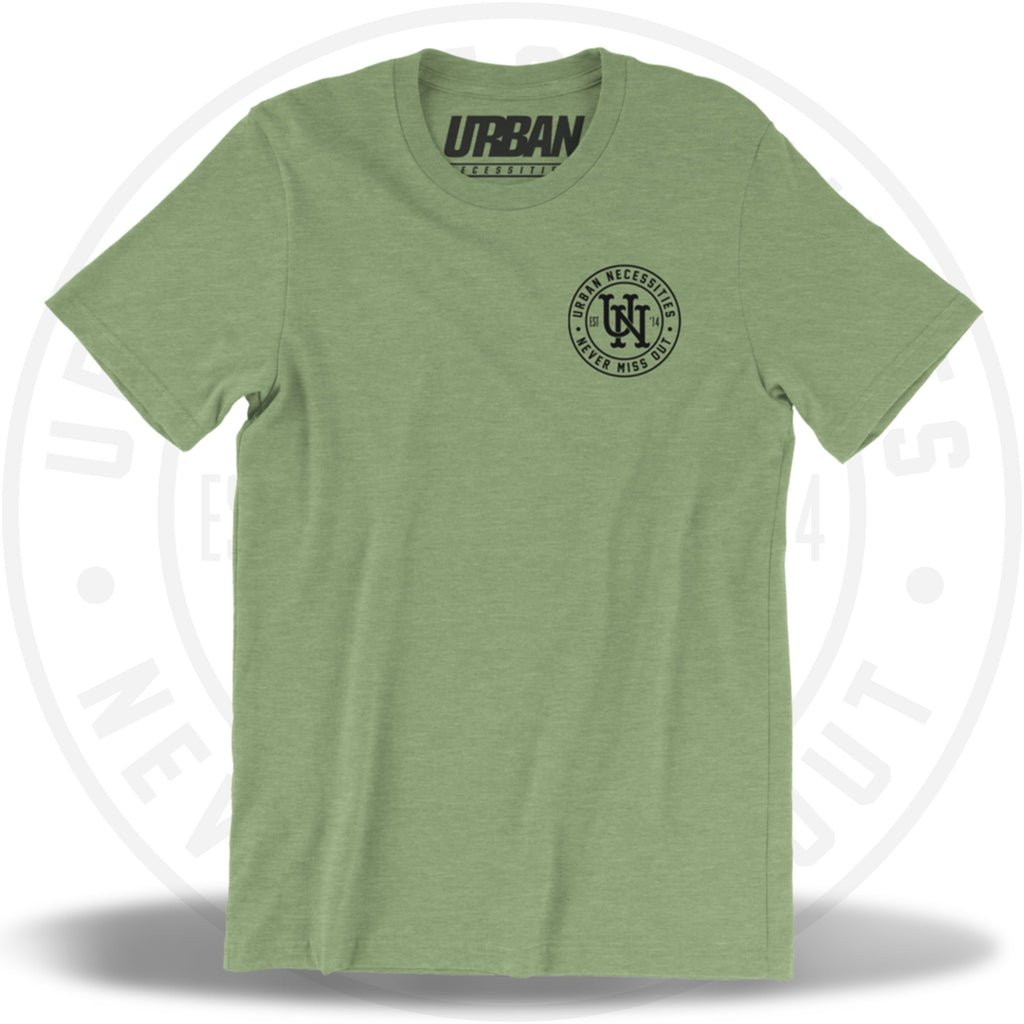 UN Stamp Tee Heather Green/Black-Urban Necessities