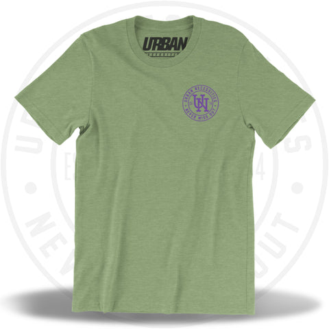 UN Stamp Tee Heather Green/Purple-Urban Necessities