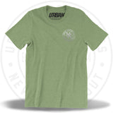 UN Stamp Tee Heather Green/Silver-Urban Necessities