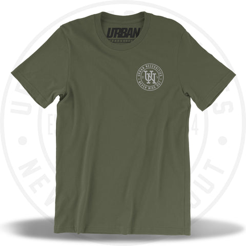 UN Stamp Tee Military Green/Silver-Urban Necessities