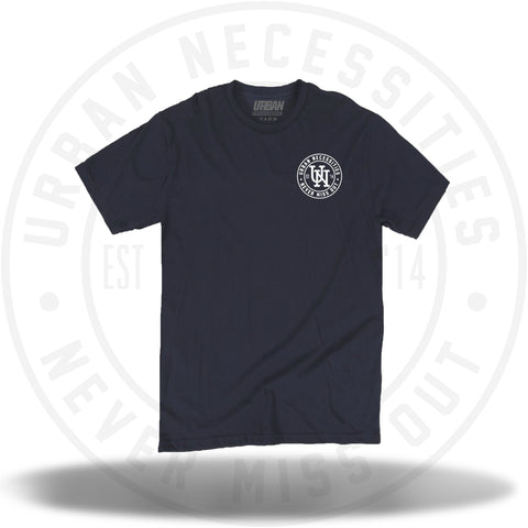 UN Stamp Tee Navy/White-Urban Necessities