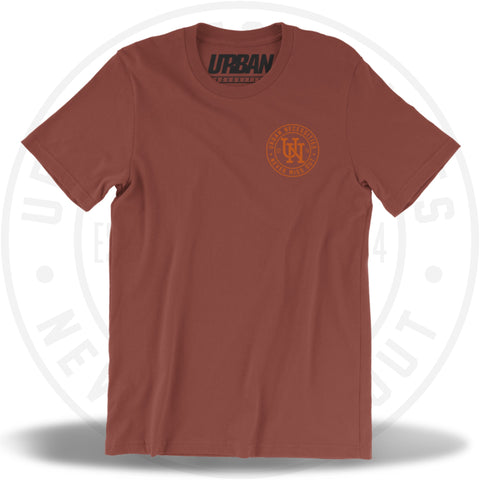 UN Stamp Tee Rust/Burnt Orange-Urban Necessities