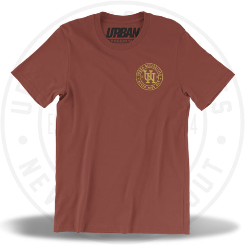 UN Stamp Tee Rust/Gold-Urban Necessities