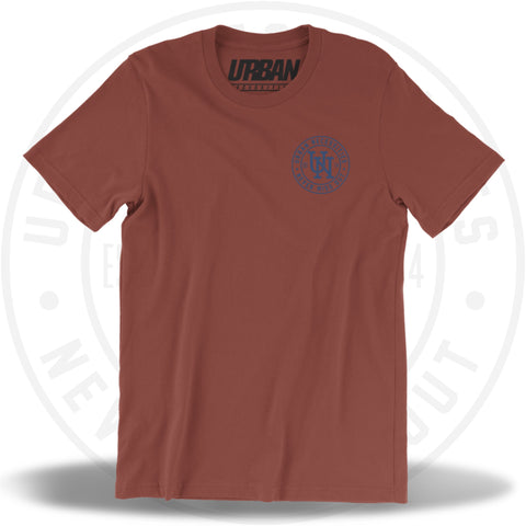 UN Stamp Tee Rust/Indigo-Urban Necessities
