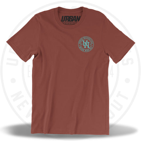 UN Stamp Tee Rust/Teal-Urban Necessities