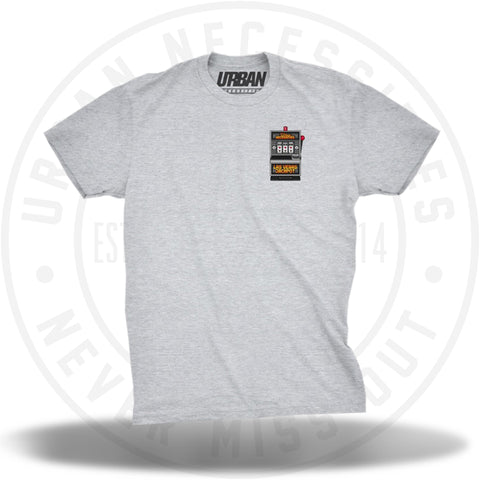 UN Vegas Slot Machine Tee Grey-Urban Necessities