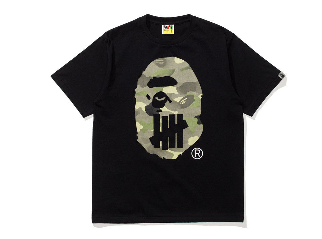 Undefeated x Bape Ape Head Tee Black-Urban Necessities