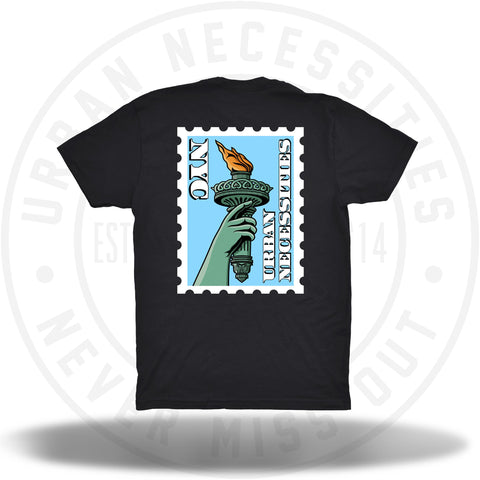 UNYC Liberty Torch Tee Black-Urban Necessities