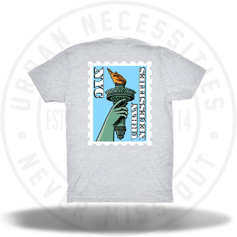 UNYC Liberty Torch Tee Grey-Urban Necessities