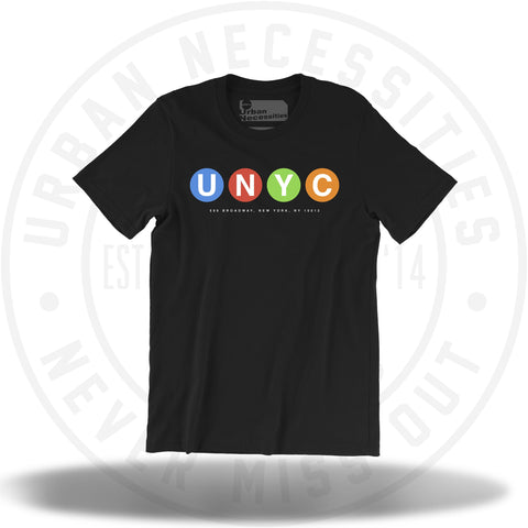 UNYC Mulicolor Dot Tee Black-Urban Necessities