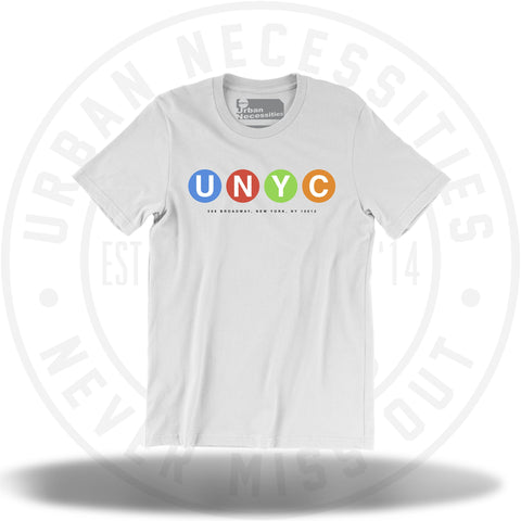 UNYC Mulicolor Dot Tee White-Urban Necessities
