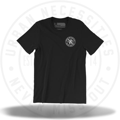 UNYC Stamp Tee Black/White-Urban Necessities