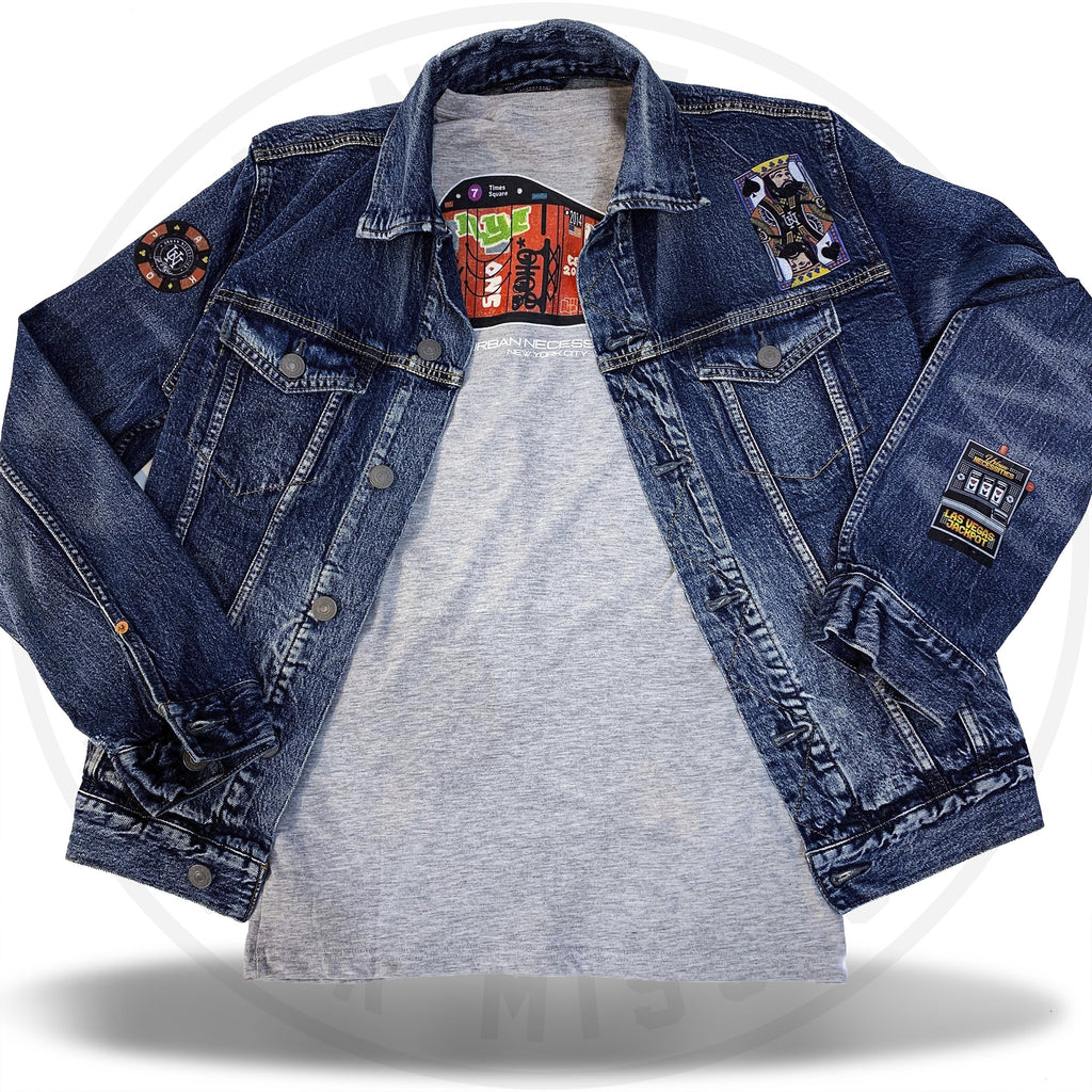 Urban Necessities x American Eagle - Dark Wash Custom Jacket-Urban Necessities